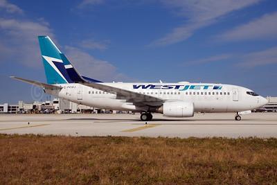 WestJet Airlines Boeing 737-7CT WL C-FEWJ (msn 32769) MIA (Bruce Drum). Image: 101833.