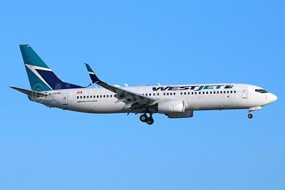WestJet Airlines Boeing 737-8CT SSWL C-FRWA (msn 39085) LAX (Michael B. Ing). Image: 938961.