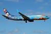 WestJet Airlines Boeing 737-8CT SSWL C-GWSV (msn 37158) (Walt Disney World - Frozen) SJU (Raul Sepulveda). Image: 939578.