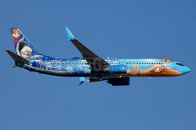WestJet Airlines Boeing 737-8CT SSWL C-GWSV (msn 37158) (Walt Disney World - Frozen) YYZ (TMK Photography). Image: 937276.