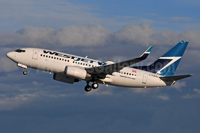 WestJet Airlines Boeing 737-7CT WL C-FWSV (msn 32760) YYC (Ken Petersen). Image: 939572.