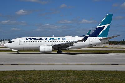WestJet Airlines Boeing 737-7CT WL C-GYWJ (msn 32772) FLL (Bruce Drum). Image: 104548.