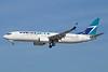 WestJet Airlines Boeing 737-8CT WL C-FKRF (msn 60123) (Split Scimitar Winglets) LAX (Michael B. Ing). Image: 925266.