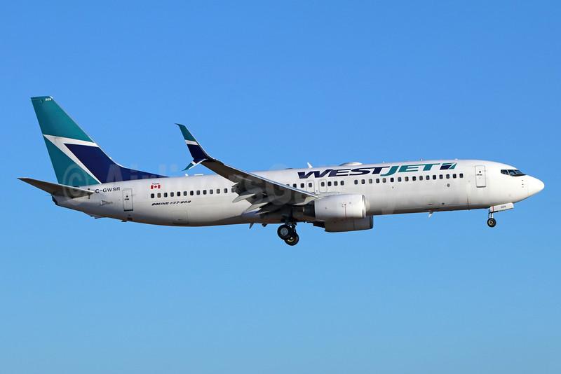 WestJet Airlines Boeing 737-8CT SSWL C-GWSR (msn 35288) LAX (Michael B. Ing). Image: 933902.