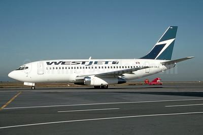 WestJet Airlines Boeing 737-275 C-GWJE (msn 20588) YVR (Erik Johannesson - Bruce Drum Collection). Image: 954942.
