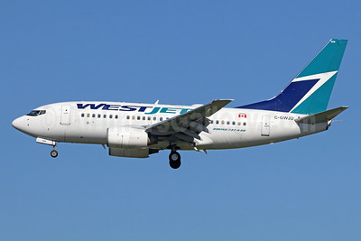 WestJet Airlines Boeing 737-6CT C-GWJU (msn 34289) LAX (Michael B. Ing). Image: 938958.