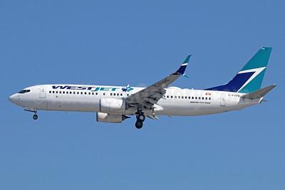 WestJet Airlines Boeing 737-8CT SSWL C-FYPB (msn 40839) LAX (Michael B. Ing). Image: 938963.