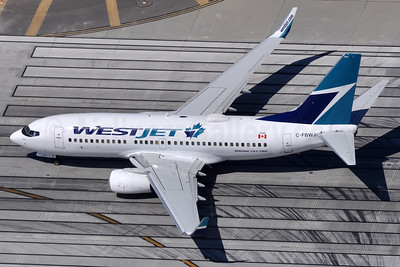 WestJet Airlines Boeing 737-7CT WL C-FBWJ (msn 32767) LAX (Robbie Shaw). Image: 937698.