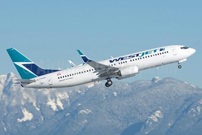 WestJet Airlines Boeing 737-8CT SSWL C-FWJS (msn 39076) YVR (Rob Rindt). Image: 941120.
