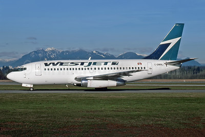 WestJet Airlines Boeing 737-204 C-GWWJ (msn 21694) YVR (Rob Rindt). Image: 949017.