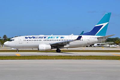 WestJet Airlines Boeing 737-7CT WL C-GWSP (msn 36693) FLL (Bruce Drum). Image: 104559.