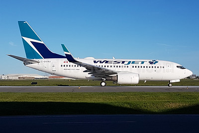 WestJet Airlines Boeing 737-7CT WL C-GVWJ (msn 36421) YYZ (TMK Photography). Image: 939573.