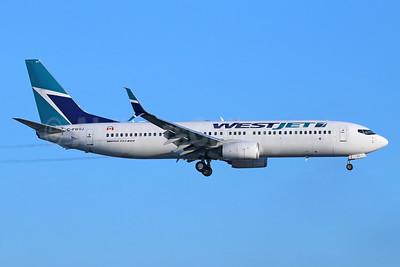 WestJet Airlines Boeing 737-8CT SSWL C-C-FWVJ (msn 37962) LAX (Michael B. Ing). Image: 938962.