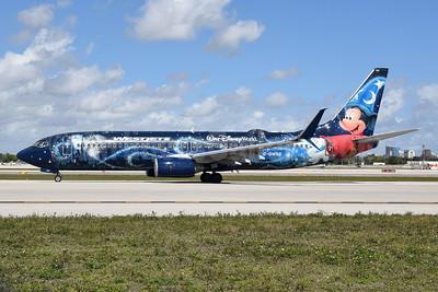 """WestJet's 2013 Walt Disney World - Magic Plane"""" special livery"""