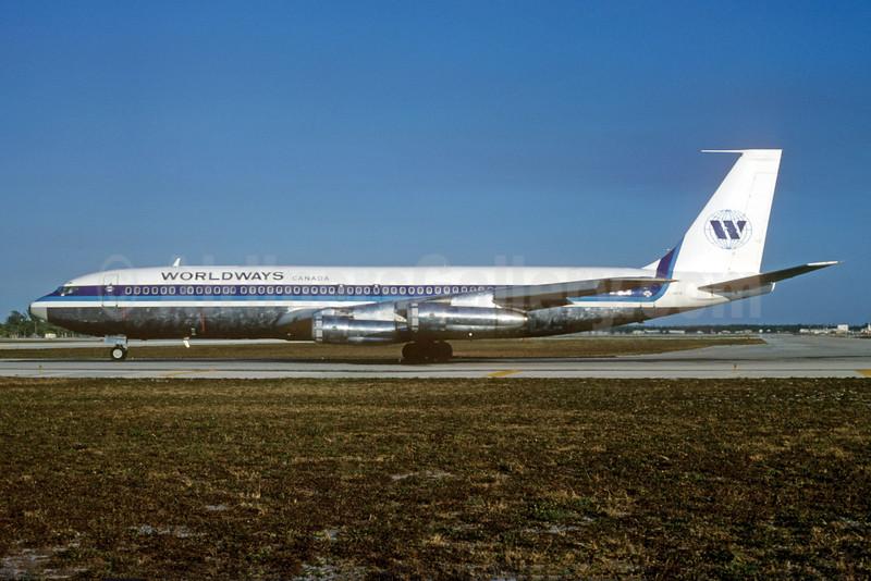 Worldways Canada Boeing 707-338C C-GRYN (msn 19623) FLL (Nigel P. Chalcraft). Image: 929978.