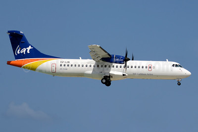 LIAT-The Caribbean Airline ATR 72-600 (ATR 72-212A) V2-LIN (msn 1366) SXM (Jay Selman). Image: 403507.