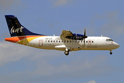 LIAT-The Caribbean Airline ATR 42-600 V2-LIF (msn 1008) POS (Nigel Steele). Image: 9222200.