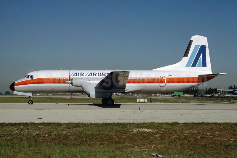 Air Aruba NAMC YS-11A-209 P4-YSC (msn 2069) MIA (Bruce Drum). Image: 103398.