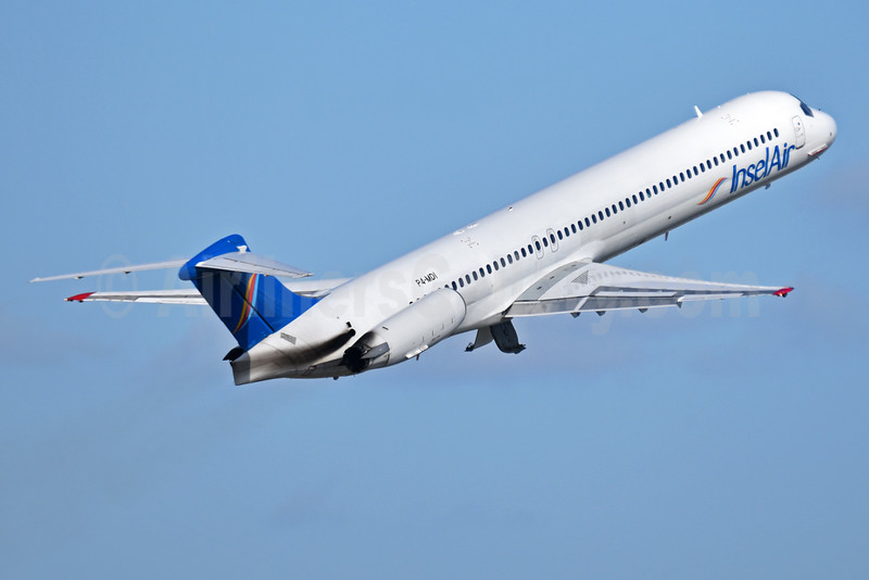 InselAir (Aruba) McDonnell Douglas DC-9-83 (MD-83) P4-MDI (msn 49847) MIA (Bruce Drum). Image: 104316.