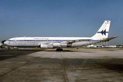 Caribbean Air Cargo Boeing 707-351C 8P-CAC (msn 19412) MIA (Keith Armes). Image: 930115.