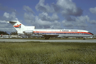 Cayman Airways-Air Florida Boeing 727-227 N272AF (msn 22004) MIA (Bruce Drum). Image: 104552.