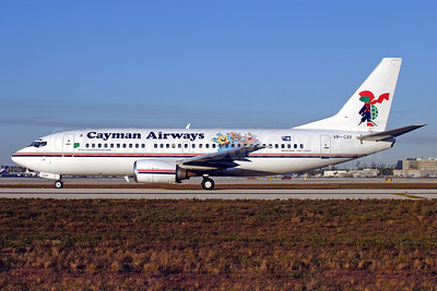 Cayman Airways Boeing 737-3Q8 VP-CAY (msn 26286) (Sponge Bob) MIA (Fernandez Imaging). Image: 904361.