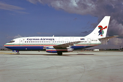 Cayman Airways Boeing 737-2S2C VR-CYB (msn 21929) MIA (Bruce Drum). Image: 102648.