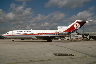Cayman Airways-Club Air Boeing 727-46 EI-BUP (msn 18877) (Dan-Air London colors) MIA (Bruce Drum). Image: 102644.