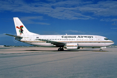 Cayman Airways Boeing 737-3Q8 VP-CKY (msn 26282) MIA (Bruce Drum). Image: 102649.