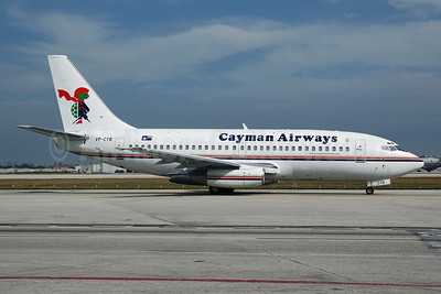 Cayman Airways Boeing 737-2S2C VP-CYB (msn 21929) MIA (Bruce Drum). Image: 100525.