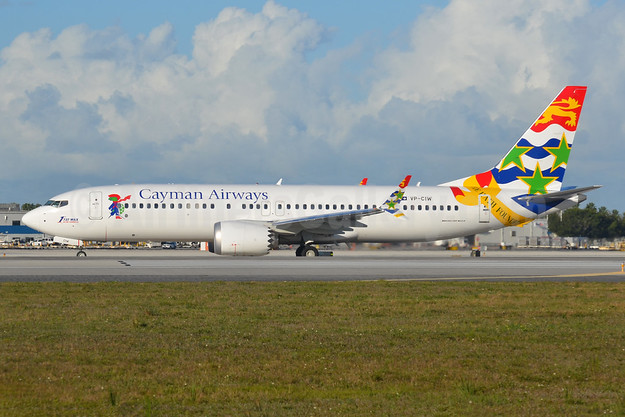 """1st 737 MAX in the Caribbean"", delivered on November 28, 2018"