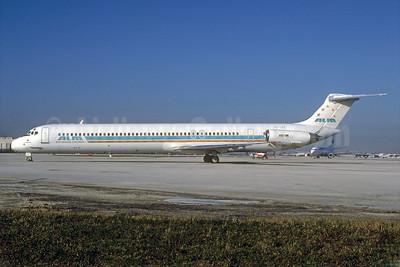 ALM Antillean Airlines McDonnell Douglas DC-9-82 (MD-82) PJ-SEF (msn 49123) MIA (Bruce Drum). Image: 102440.