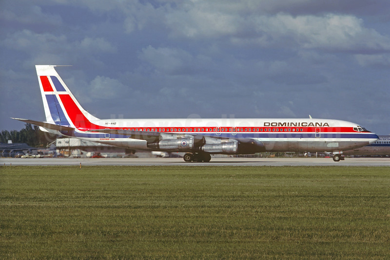 Dominicana Boeing 707-399C HI-442 (msn 19767) MIA (Christian Volpati Collection). Image: 927777.