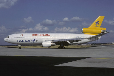 Leased from/operated by TAESA for Dominicana