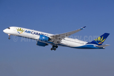 Air Caraibes (2nd) Airbus A350-941 F-HHAV (msn 082) ORY (Jacques Guillem). Image: 941257.