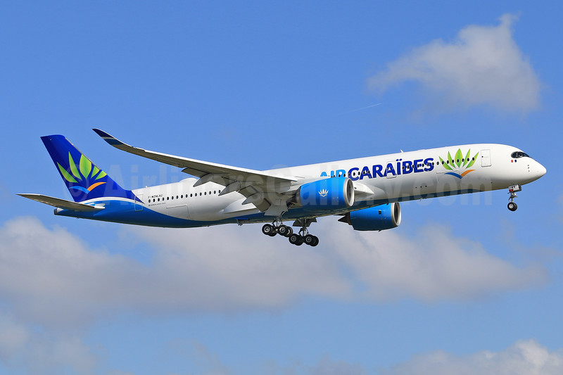 The first Airbus A350-900 for Air Caraïbes