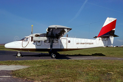 Air Martinique de Havilland Canada DHC-6-300 Twin Otter F-OGJV (msn 422) Euralair colors) (Christian Volpati Collection). Image: 923391.