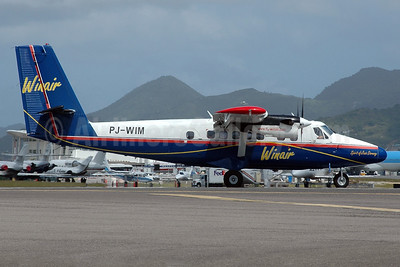 Winair (Windward Islands Airways) de Havilland Canada DHC-6-300 Twin Otter PJ-WIM (msn 840) SXM (Jan Petzold). Image: 900904.