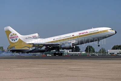 BWIA International Lockheed L-1011-385-3 TriStar 500 N3140D (msn 1233) (We are the Caribbean) LHR (SPA). Image: 941555.
