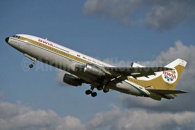 BWIA International Lockheed L-1011-385-3 TriStar 500 9Y-TGJ (msn 1179) (We are the Caribbean) LHR (SPA). Image: 927167.