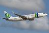 Caribbean Airlines Boeing 737-8K2 WL 9Y-TJR (msn 37160) (Transavia colors) POS (Nigel Steele). Image: 927103.