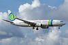 Caribbean Airlines Boeing 737-8K2 WL 9Y-TJS (msn 34171) (Transavia colors) POS (Nigel Steele). Image: 905781.
