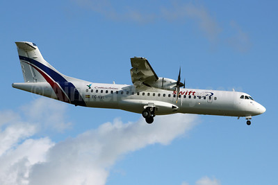 Caribbean Airlines (Swiftair) ATR 72-212A (ATR 72-500) EC-KVI (msn 824) (Swiftair colors) POS (Nigel Steele). Image: 906134.