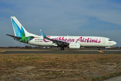 Caribbean Airlines Boeing 737-8Q8 WL 9Y-GEO (msn 28225) JFK (Ken Petersen). Image: 902726.