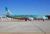 Caribbean Airlines Boeing 737-8Q8 9Y-BGI (msn 28232) (BWIA colors) MIA (Bruce Drum). Image: 100324.