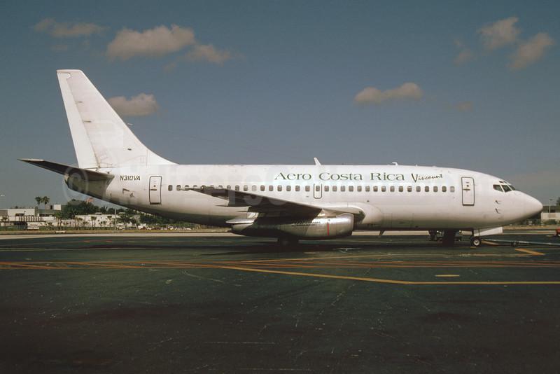 Aero Costa Rica-Viscount Air Service Boeing 737-284 N310VA (msn 21501) MIA (Bruce Drum). Image: 103512.