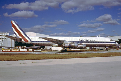 LACSA Carga Douglas DC-8F-55 JetTrader N29549 (msn 45803) MIA (Bruce Drum). Image: 102692.