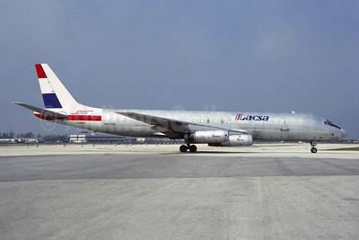 LACSA Cargo - LAP Cargo McDonnell Douglas DC-8-62 (F) N810BN (msn 45905) MIA (Jacques Guillem Collection). Image: 951464.