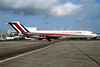 LACSA-Lineas Aereas de Costa Rica (Dan-Air) Boeing 727-212 G-BHVT (msn 21349) (Dan-Air fuselage colors) MIA (Bruce Drum). Image: 104270.