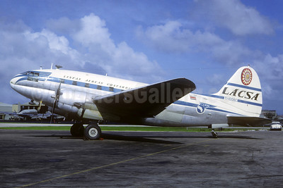 LACSA-Lineas Aereas Costarricenses Curtiss C-46D-15-CU Commando TI-1008C (msn 33379) MIA (Jacques Guillem Collection). Image: 936796.